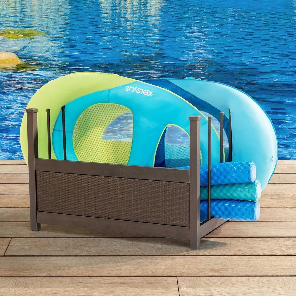 Outdoor Inflatable Pool Float Gear Storage Durable Rust