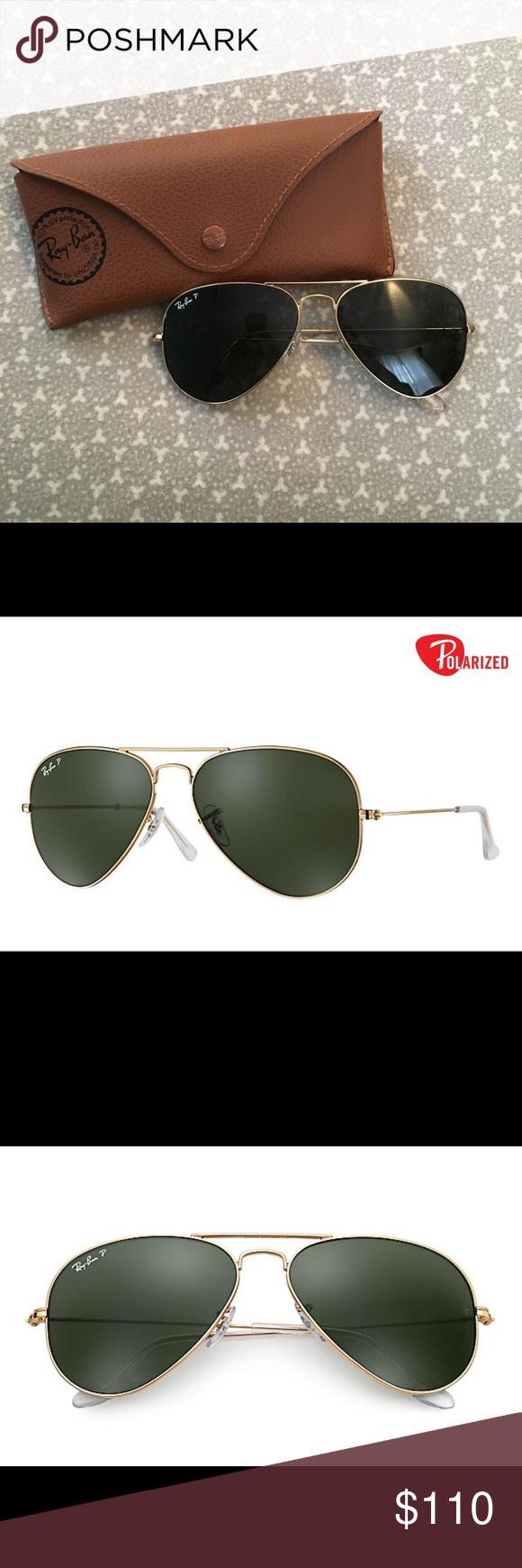 0fa3b23140 Ray-Ban Aviator Gold Frame Polarized Green Lens Never used Ray-Ban classic  polarized
