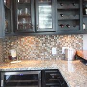 Home Bars black cabinetry is striking! Kingwood Remodeling MHR Modern Home Renovation in Kingwood, Texas 77339