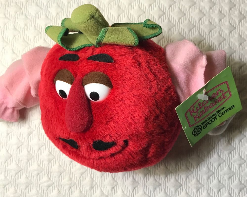 Mr Tomato Disney Epcot Kitchen Kabaret Plush Toy RARE