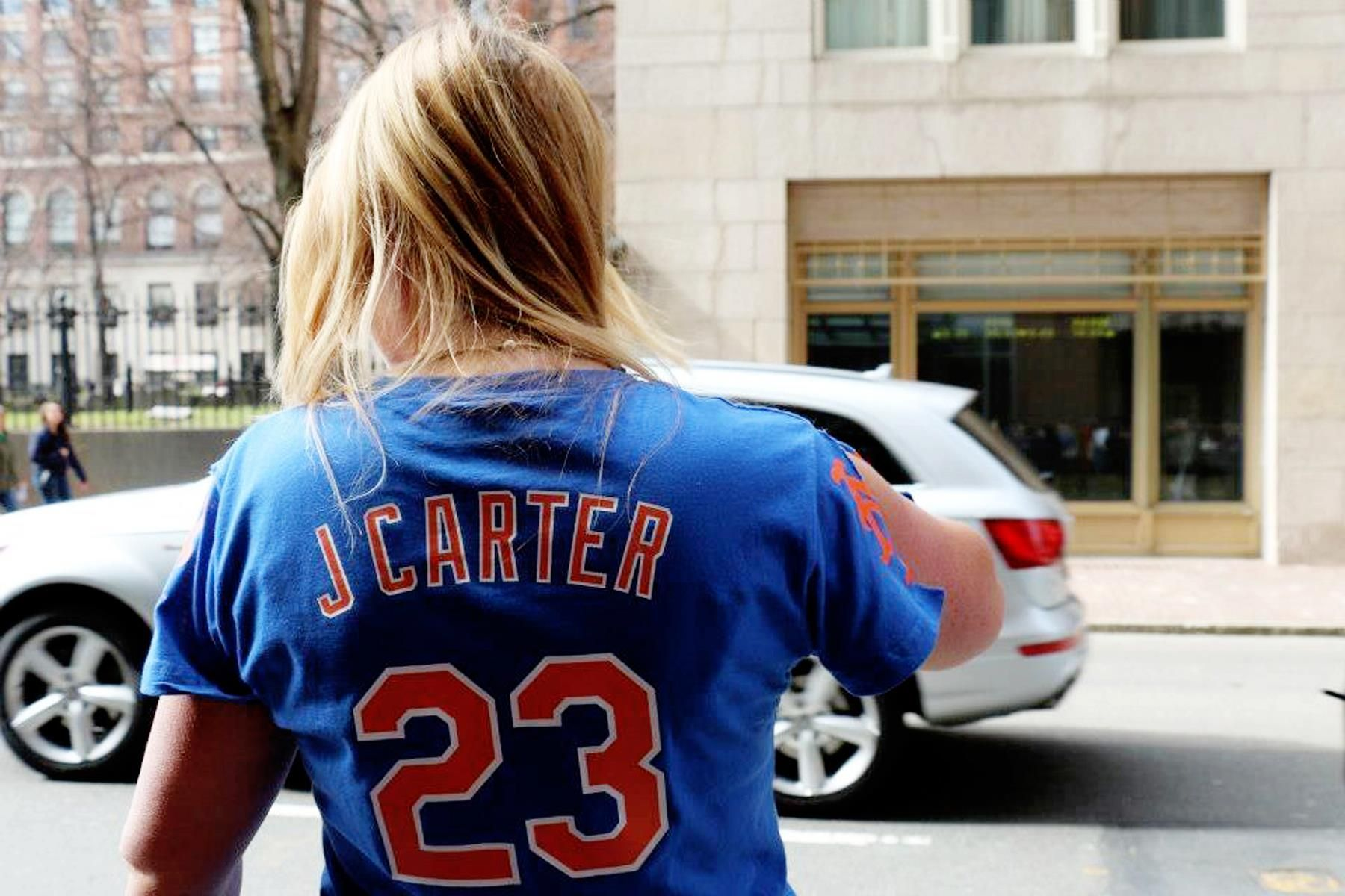 J. Sterling wearing her J. Carter jersey ) Perfect game