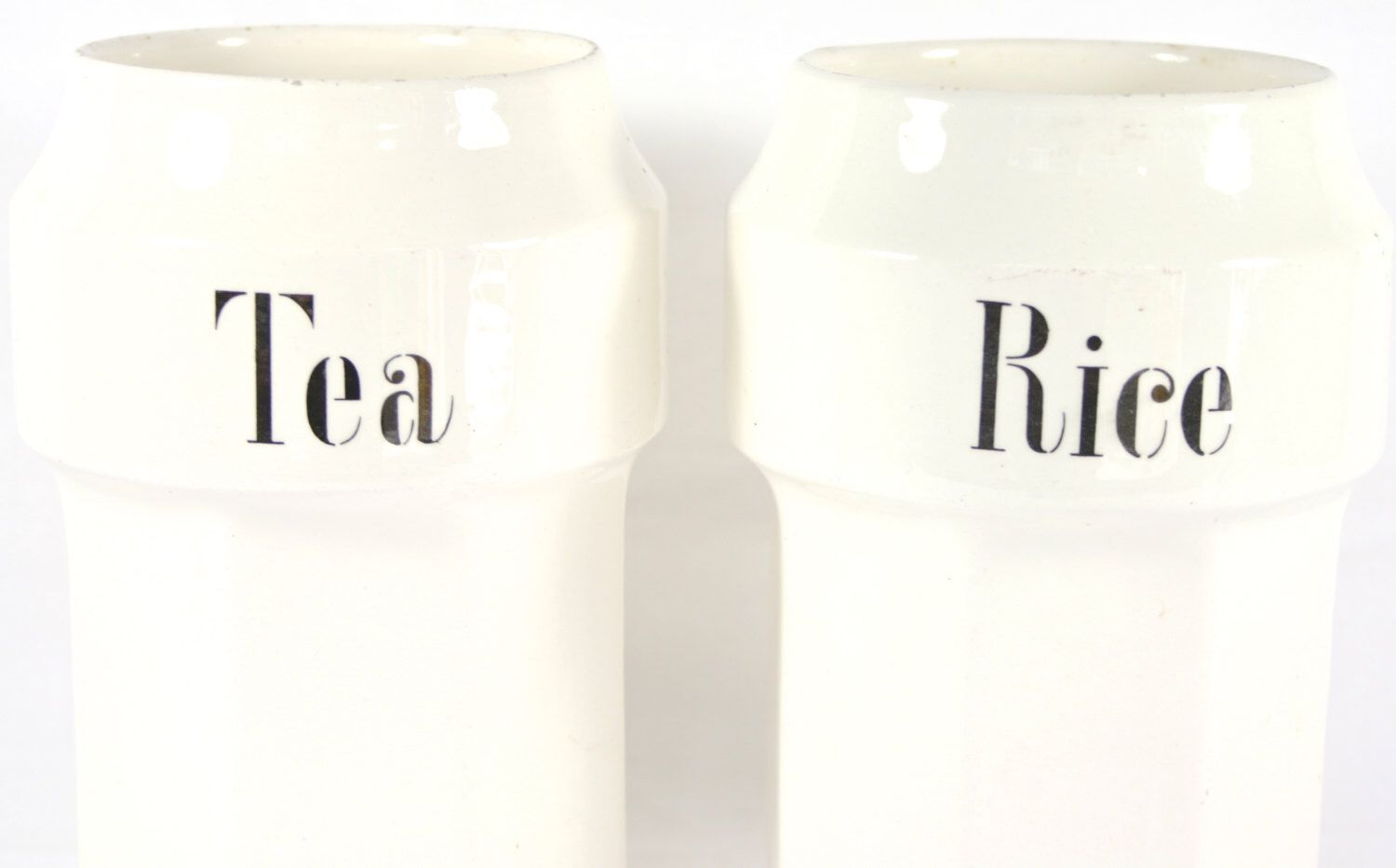 White Ceramic Kitchen Canisters Set Tea Canister Rice Container ...