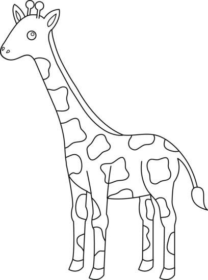 For Md Done In Hmmm Not Sure What Color Yet Giraffe Coloring Pages Animal Coloring Pages Zoo Animal Coloring Pages