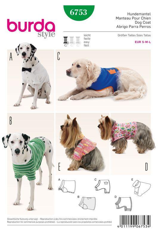 Patron de Manteau pour chien Burda 6753   manteaux toutou   Pinterest