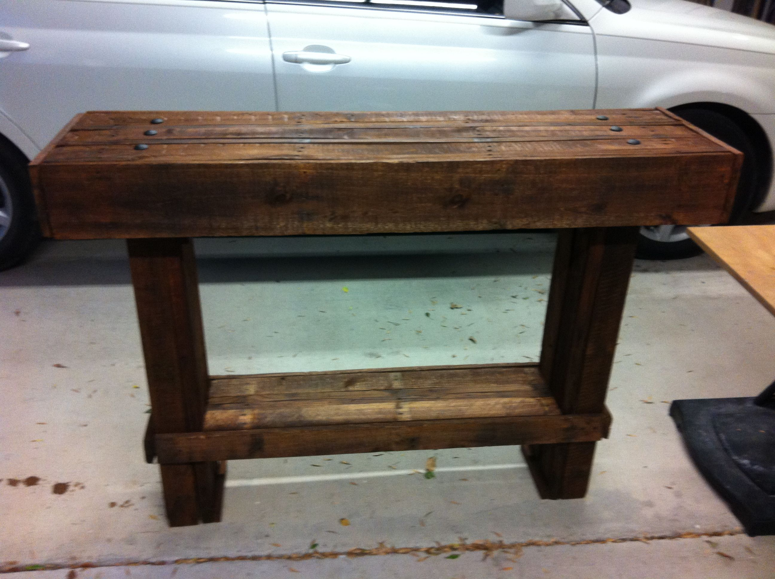 Foyer Table Made From Pallets : Diy foyer table made of pallet wood pinterest
