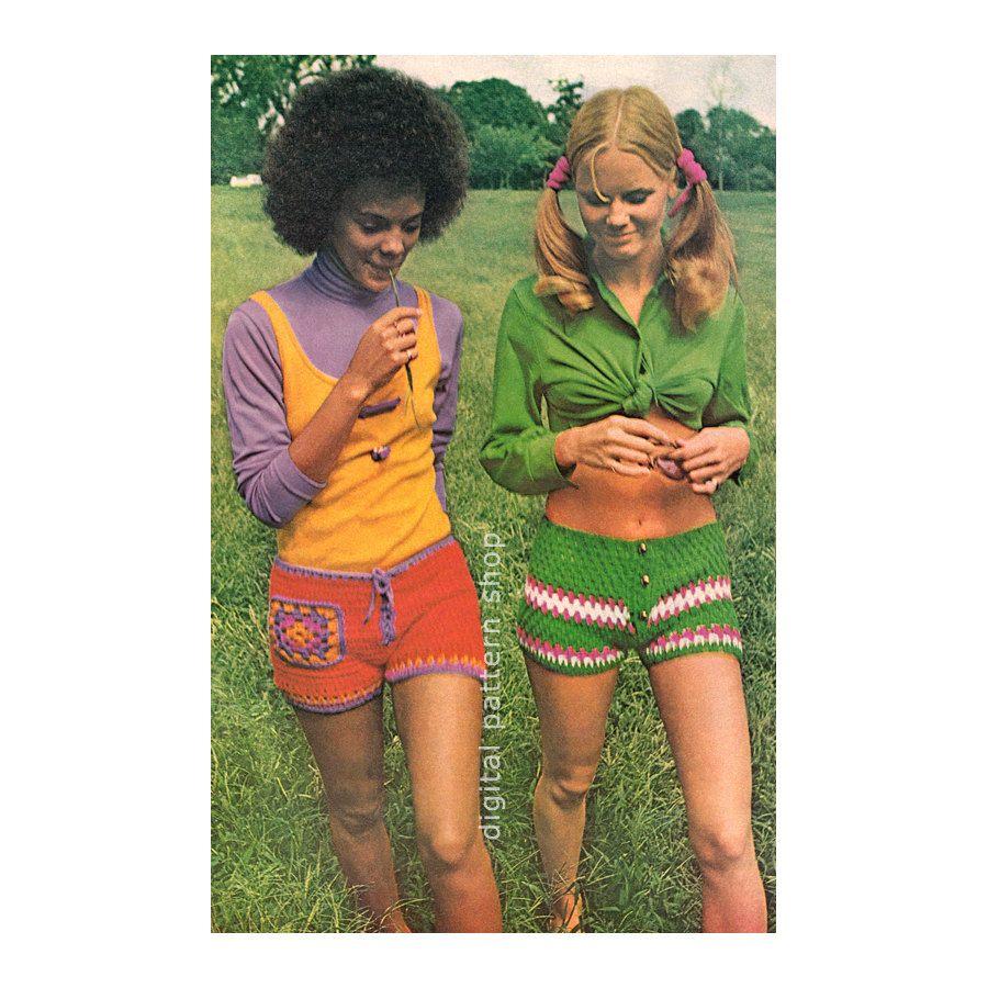 Crochet Shorts Pattern Vintage 70s Short Shorts Crochet Pattern Hot ...