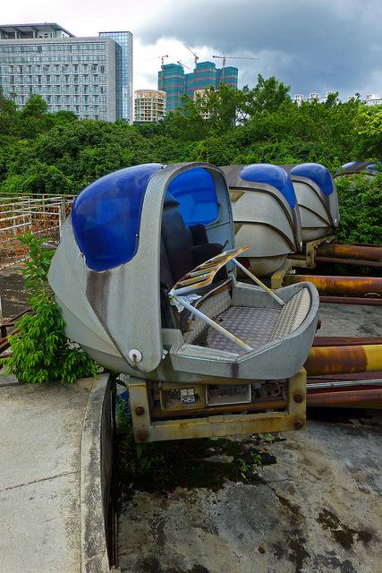 Abandoned theme park in China (more images on Megan Joel Peterson's blog)