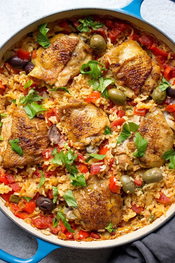 Spanish Chicken And Rice (Best Arroz Con Pollo) #spanishmeals