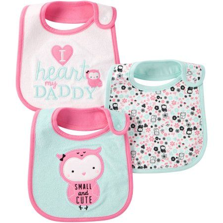 bea94998d59 Child Of Mine by Carter s Newborn Baby Girl Bibs
