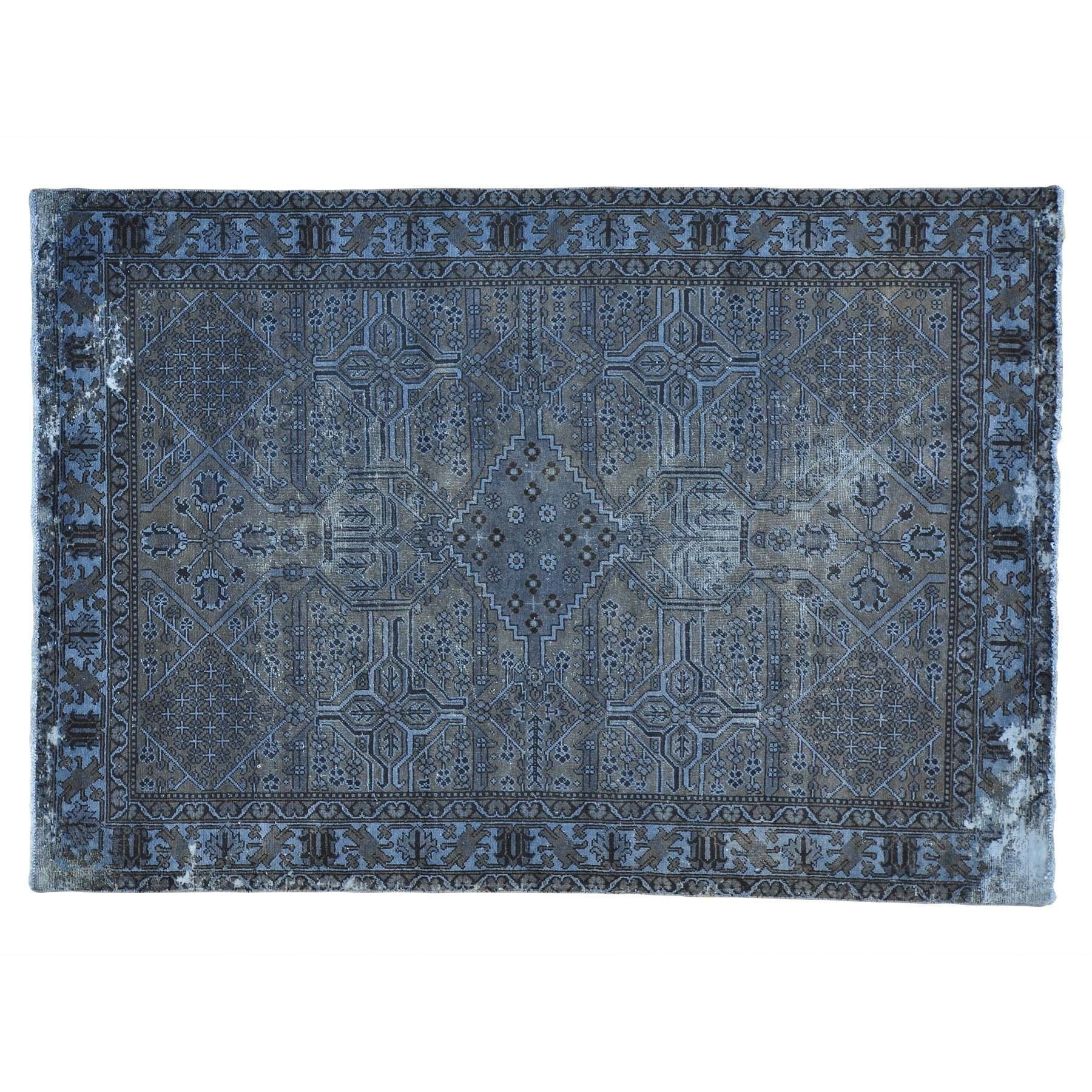"1800getarug Refurbished Semi Antique Overdyed Persian Bakhtiari Oriental Rug (6'6 x 9'5) (Exact Size: 6'6"" x 9'5""), Grey, Size 7' x 10'"