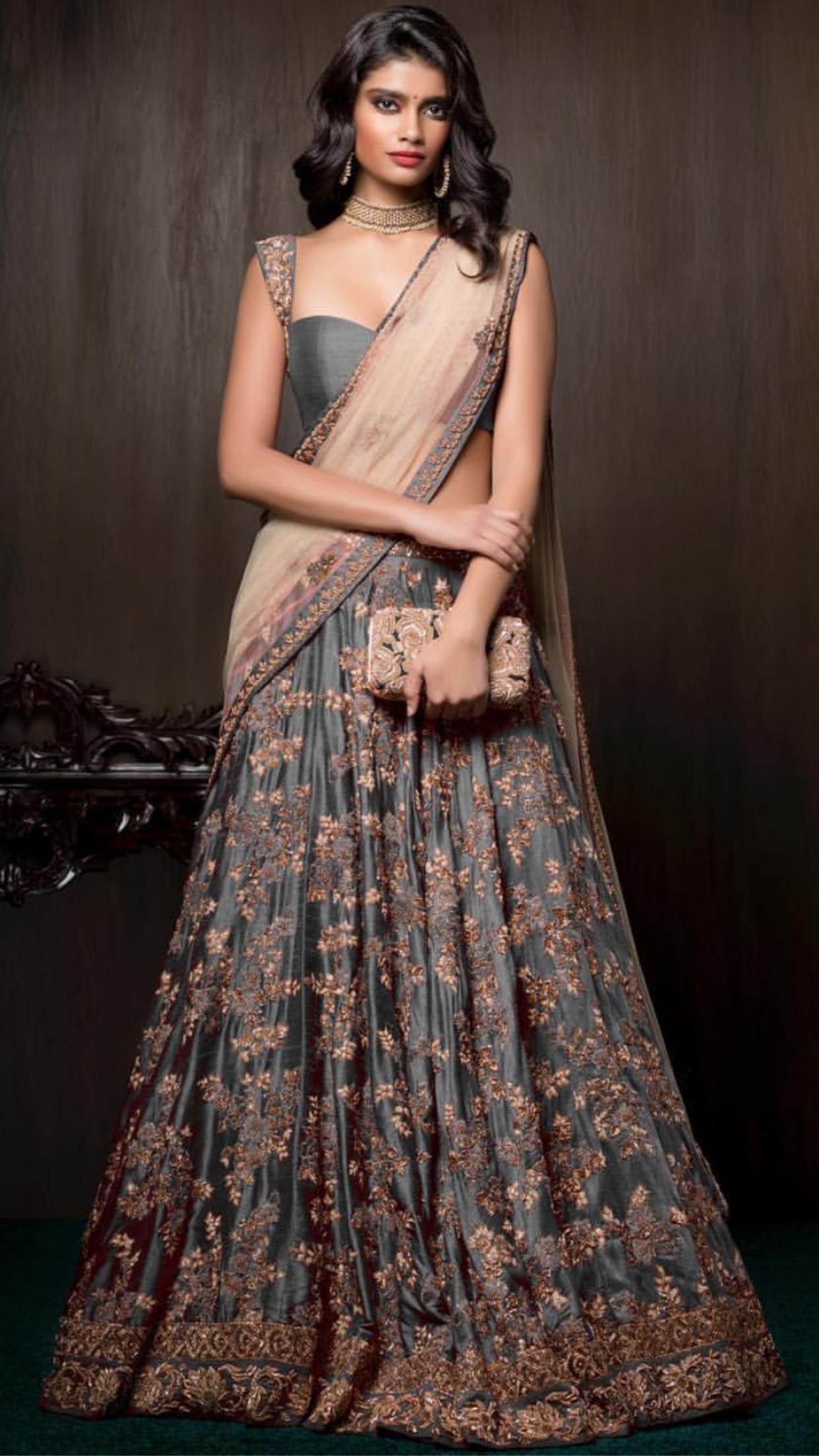 Pinterest • @KrutiChevli | Lehenga & dresses & saree ...