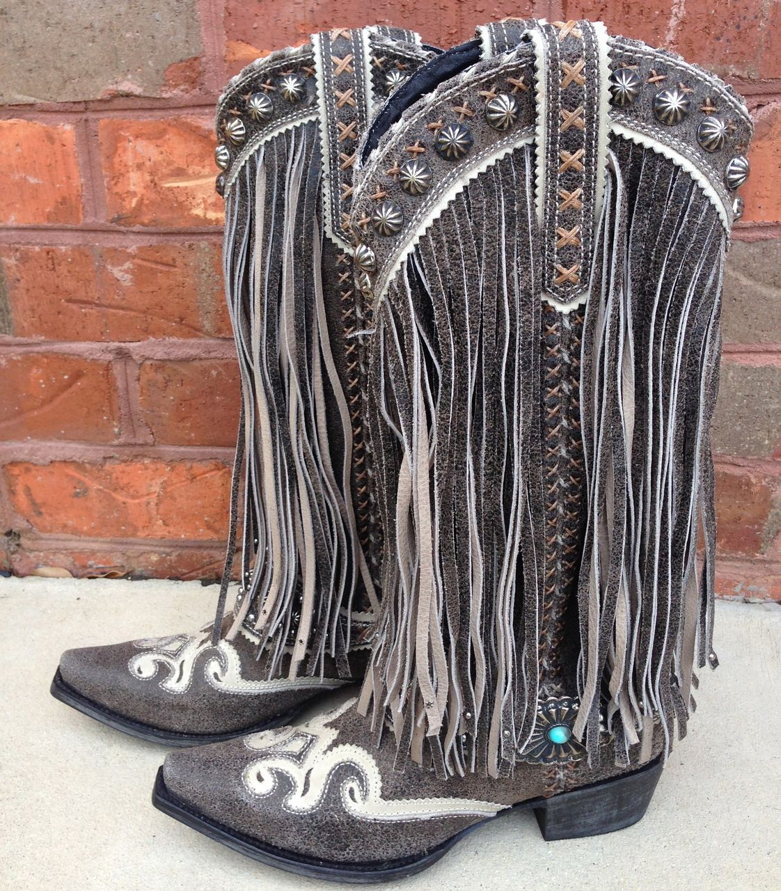 Rivertrail Mercantile Lane For Double D Ranch Prescott Fringed Dd9008c 560 00 Http Www Rivertrailmerca Leather Western Boots Boots Boots Cowgirl Country