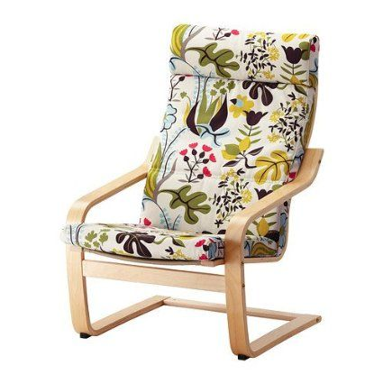 Ikea Poang Chair Birch Veneer With Blomstermala Floral Pattern