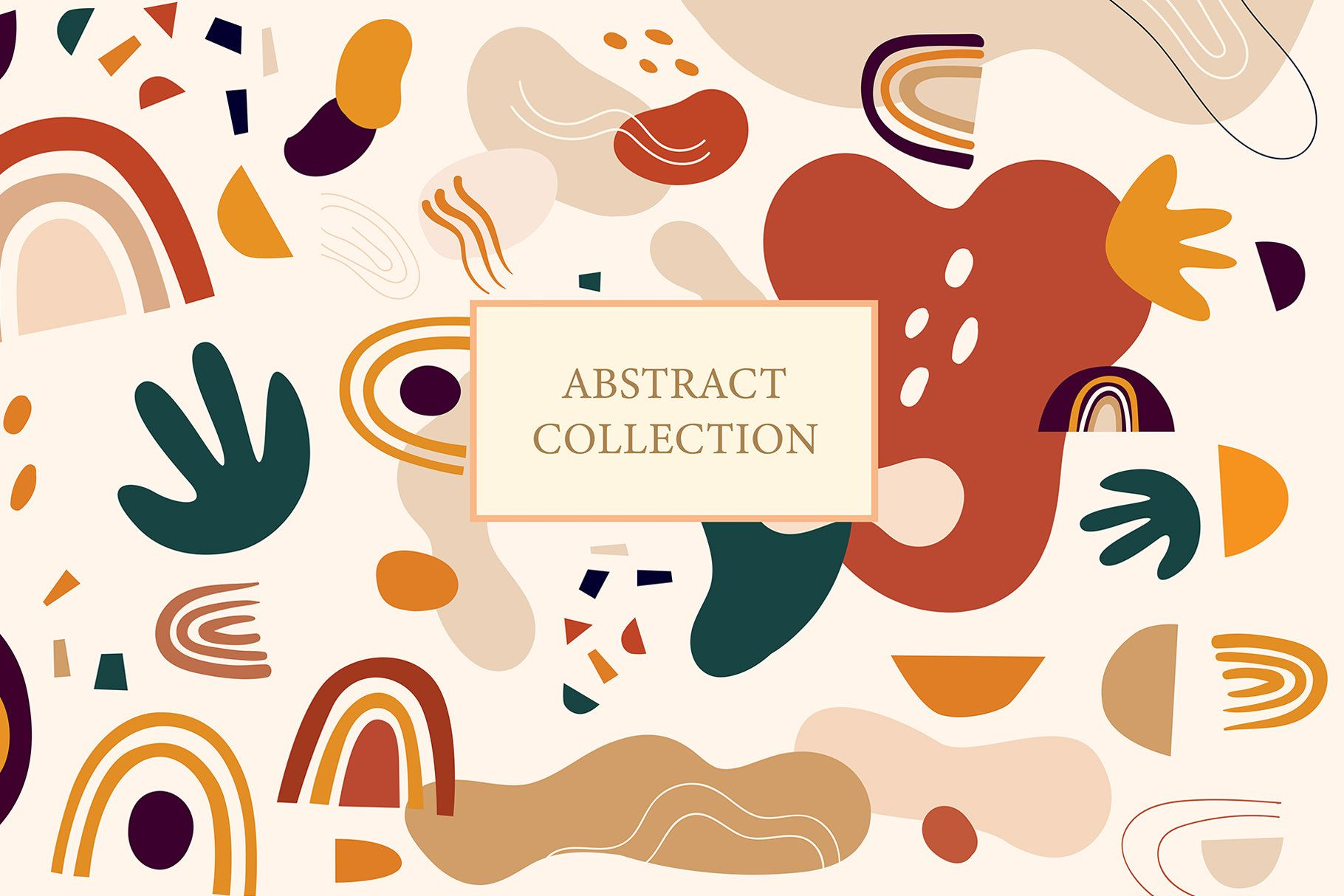 Abstract Shapes Collection Abstract Modern Pattern Digital Clipart Png By Moleskostudio On Etsy Abstract Shapes Abstract Abstract Prints
