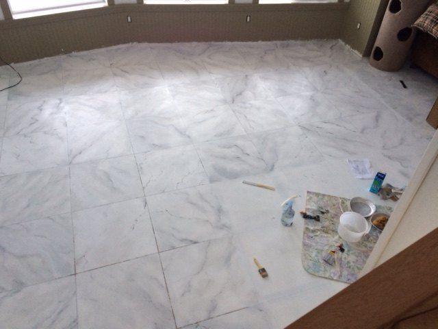 Faux Marble Flooring  Floorcloths  Rugs  Flooring