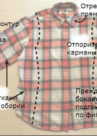 e7f8794b0ec4 Переделка мужской рубашки в женскую (52 фото): мастер-класс как из ...