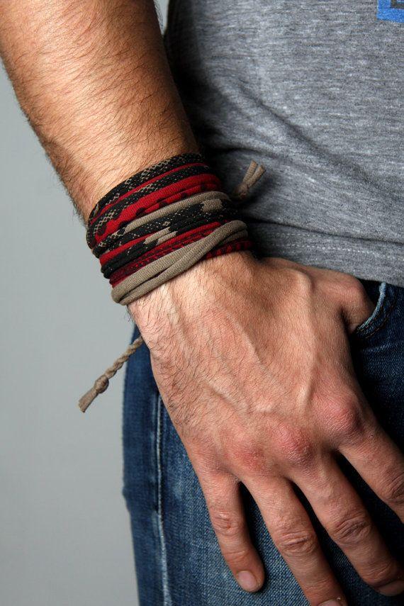 f0d9b8cb6e8f Wrap Bracelet Mens Cuff Jewelry Man Husband Boyfriend Gift Burning ...