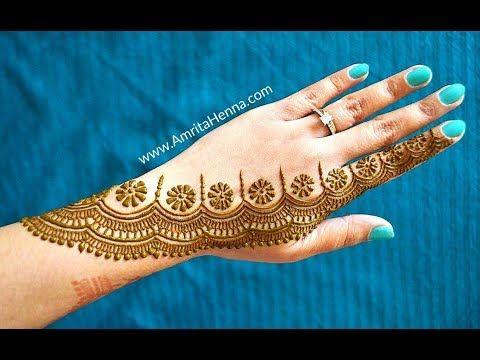 Mehndi Party Entertainment Ideas : Creative henna mehndi design stylish trendy floral mehendi