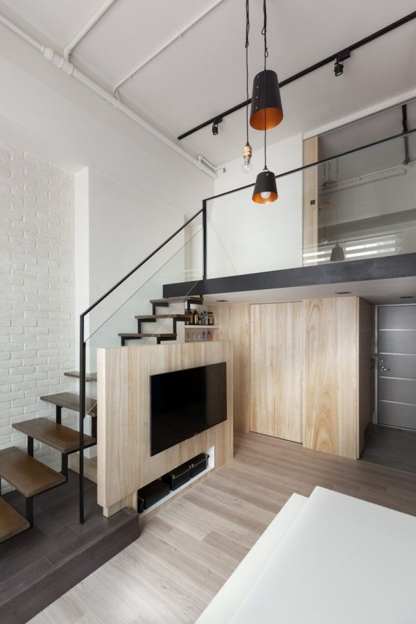 A modern loft with character