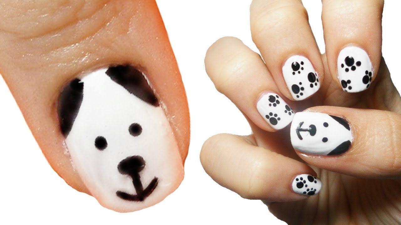 Puppy Dog Nail Art Nail Art For Kids Dog Nail Art Animal Nail Art