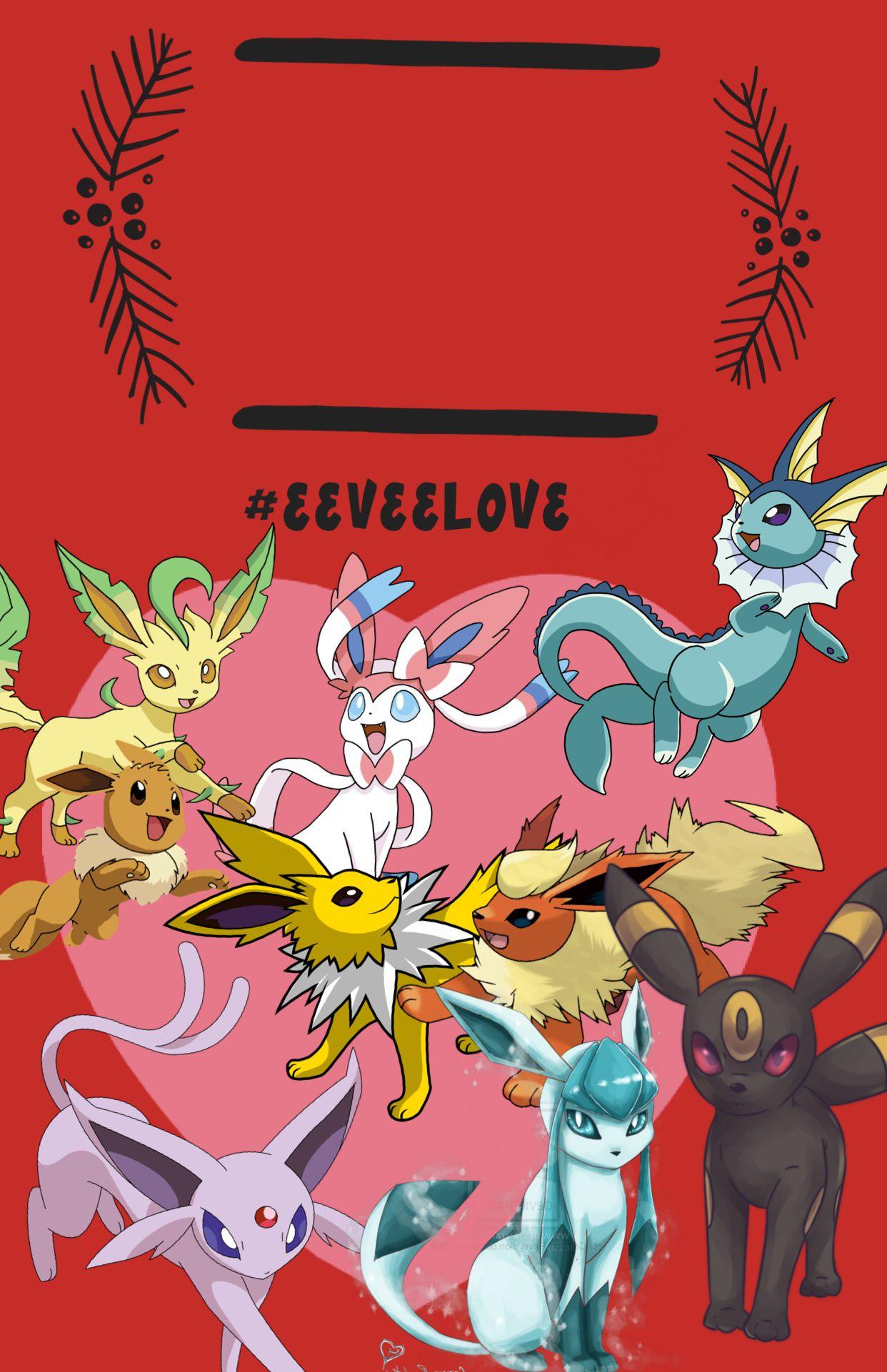 Super cute eeveeloution phone wallpaper 🤗 Pokemon eevee
