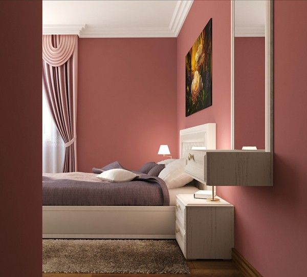 Painted Walls Colorful Room Design: Rose Color Paint For Bedroom To Be Painting Bedroom Walls