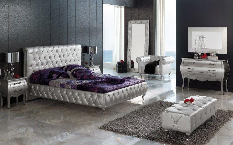 Schlafzimmer Bremen ~ Cama moderna tapizada bremen decoración