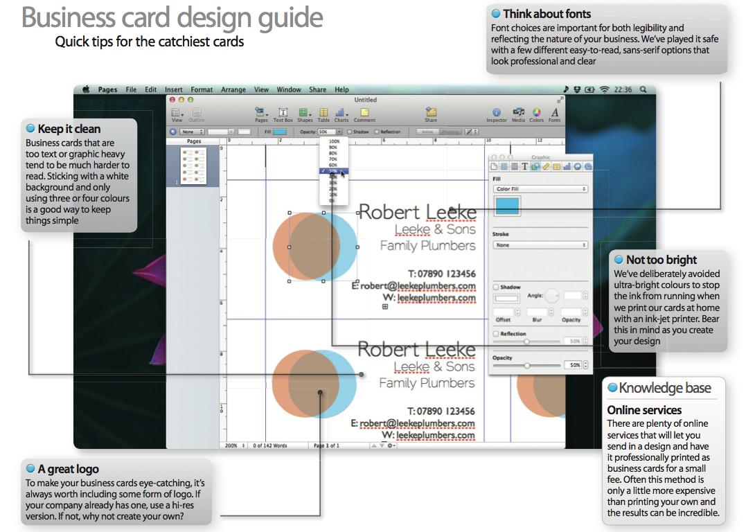 Erstellen Von Visitenkarten In Publisher Mit Business Karten