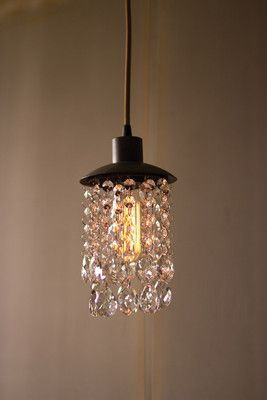 Raw Metal Pendant Light With Hanging Gems Home Swag