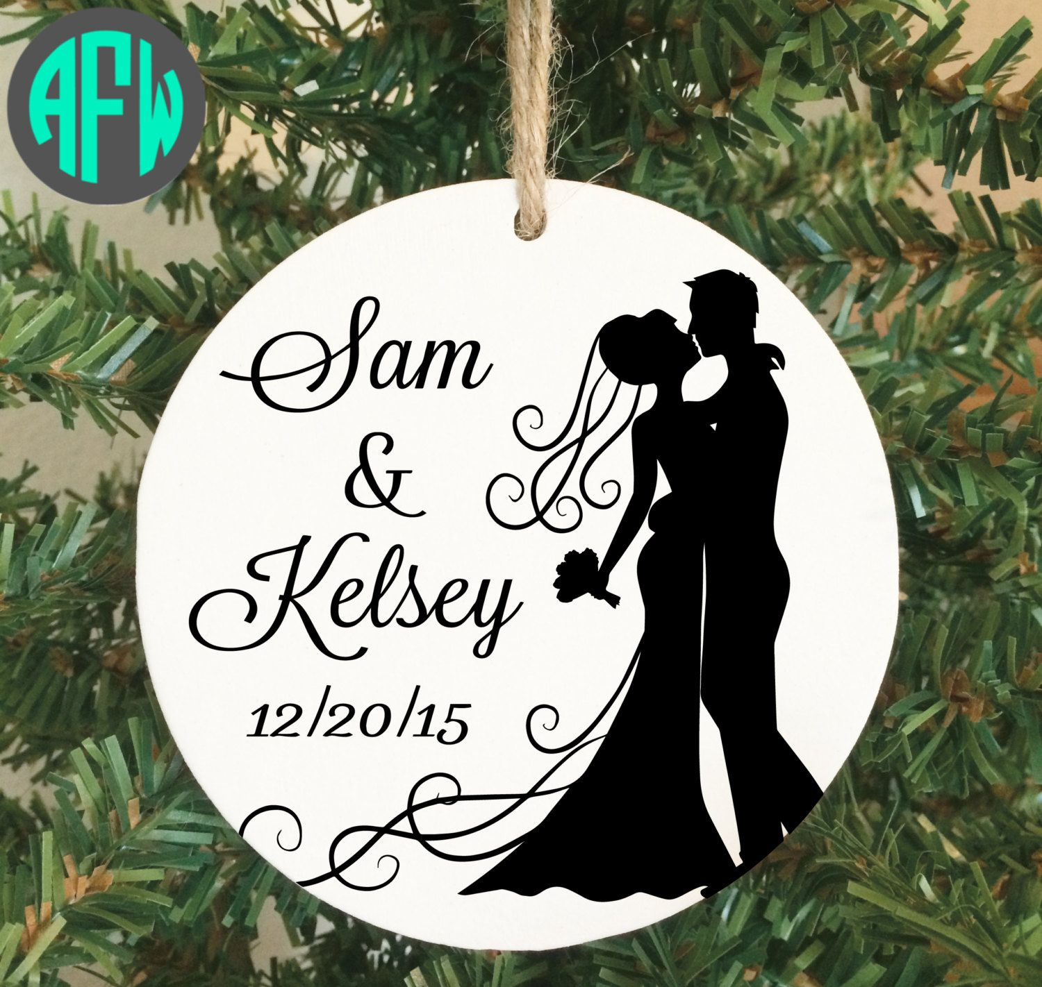 Personalized couples christmas ornaments - Our First Christmas Ornament Personalized Couples Gift Wedding Gift Newlywed Just Married Mr And Mrs Bridal Shower Gift Christmas