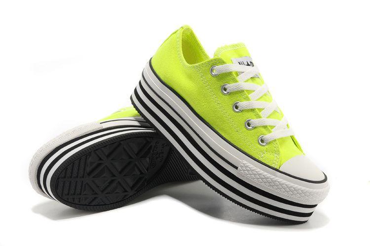 1d28abb6415 Converse Chuck Taylor All Star Light Green Double Platform Low Tops Canvas  Women Shoes  converse