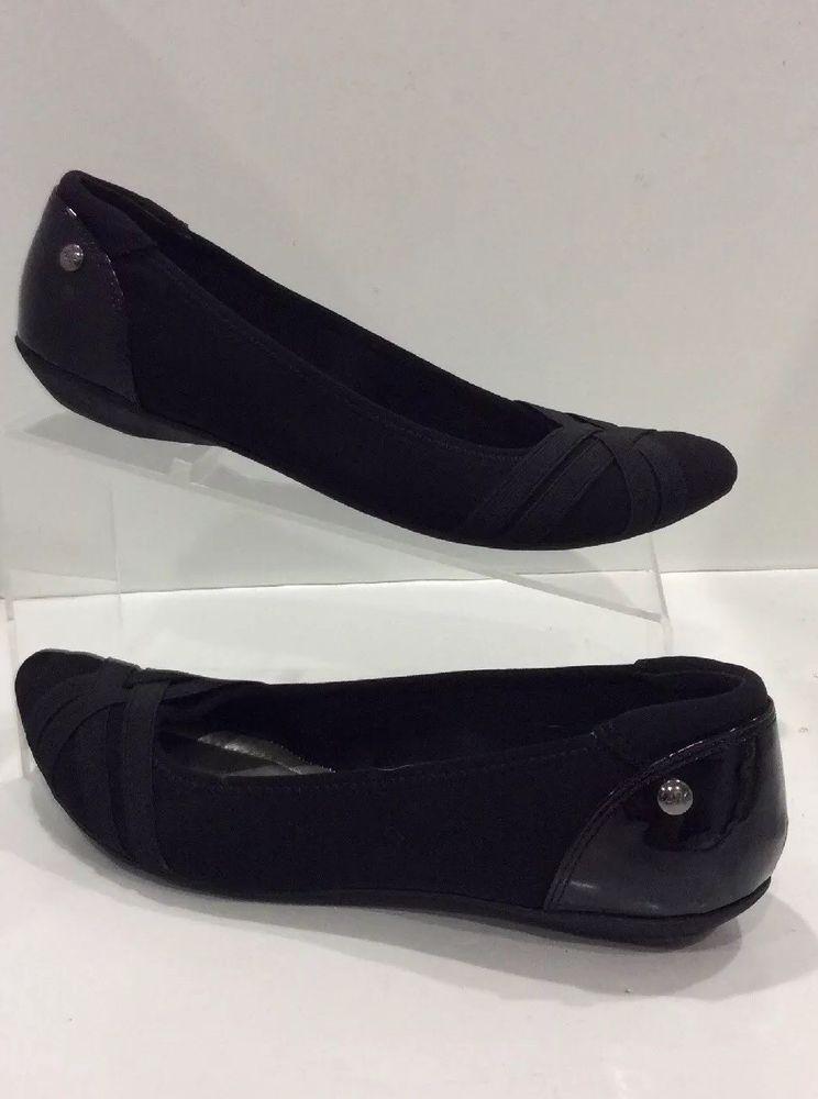 8d4e95c6ec8c Anne Klein Sport Ballet flats shoes black AK Olizer Pointed Toe Size 7.5  EUC  fashion  clothing  shoes  accessories  womensshoes  flats  ad (ebay  link)