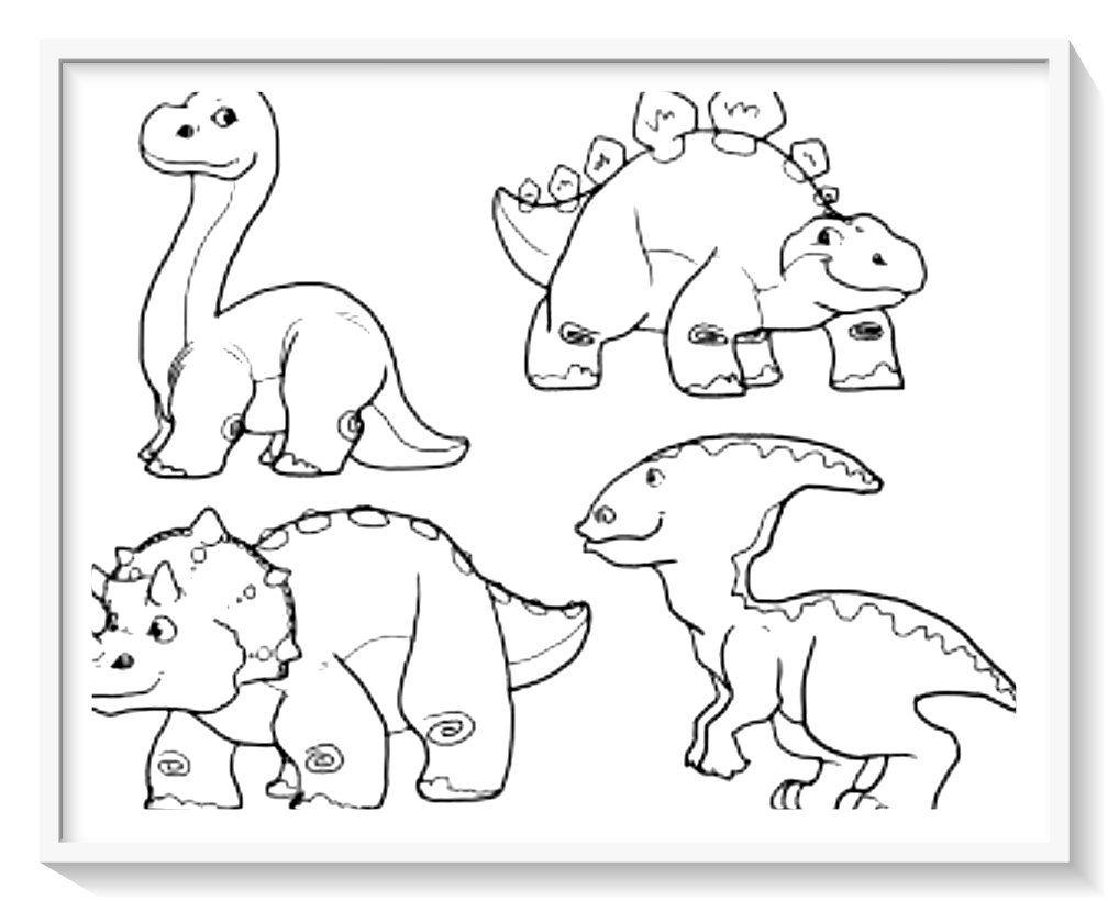 Pin En Imagenes De Dinosaurios Para Colorear