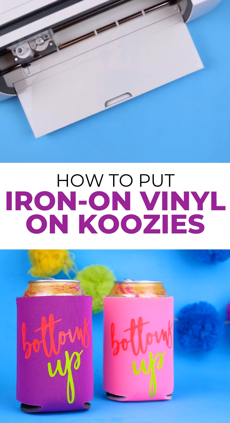 How to Put Iron-on Vinyl on Koozies
