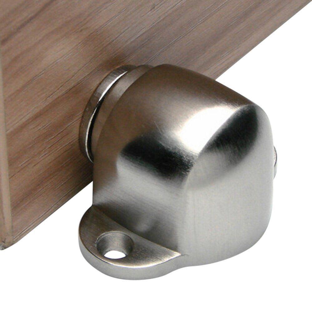 Deekec Sus304 Stainless Steel Magnetic Doorstop Door With Catch Screw Mount Brushed Single Awesome Deals Home Offi Door Stopper Door Stop Door Holders