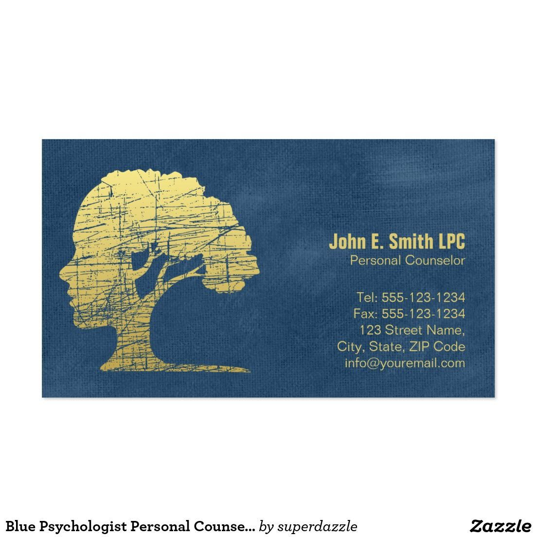 Rendez vous personnel de conseiller de psychologue carte de visite shop blue psychologist personal counselor appointment business card created by superdazzle magicingreecefo Choice Image
