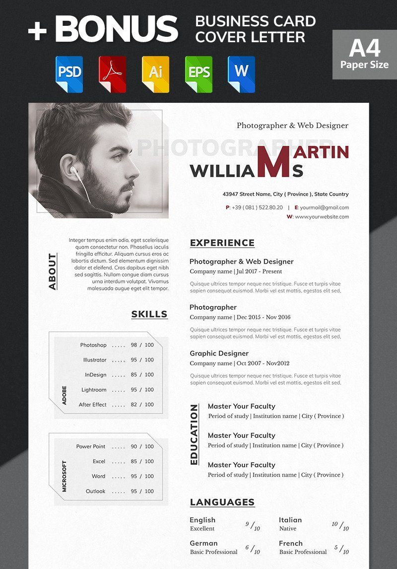 Martin Williams Photographer & Web Designer Resume
