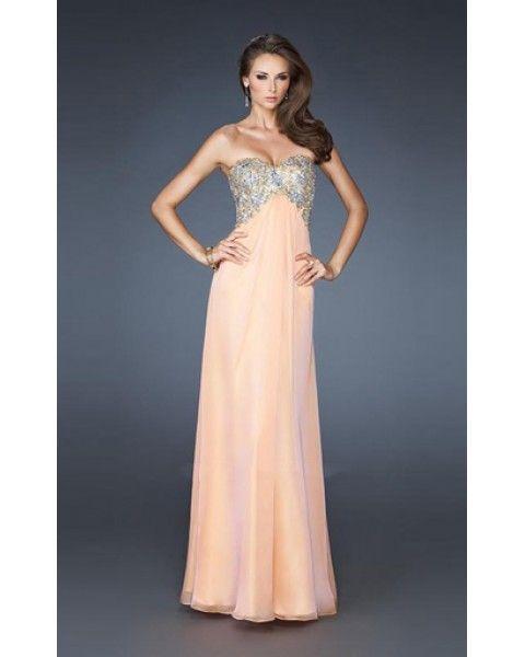 2014 18942 La Femme Long Dress Peach | 2014 La Femme Dresses | Pinterest