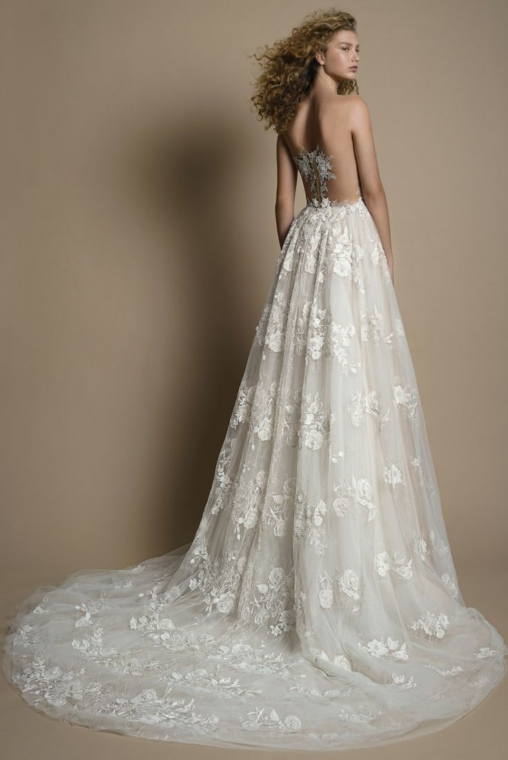 Illusion lace wedding dress  Make a romantic entrance in the beautiful GALA wedding dress