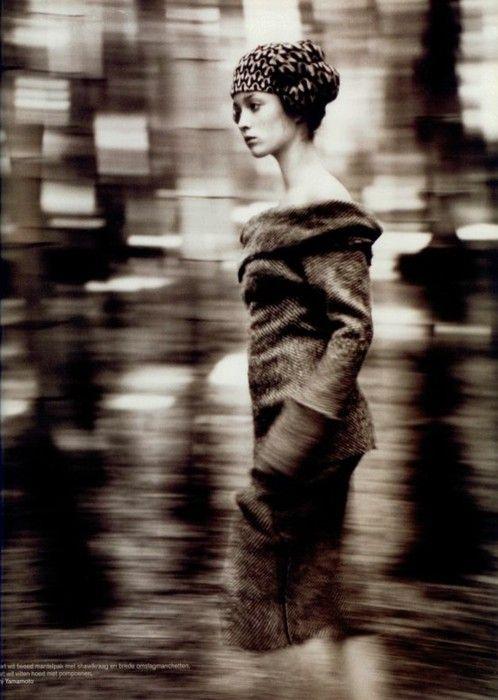 "Audrey Marnay in ""Talking to Myself"" book by Japanese fashion designer Yohji Yamamoto"