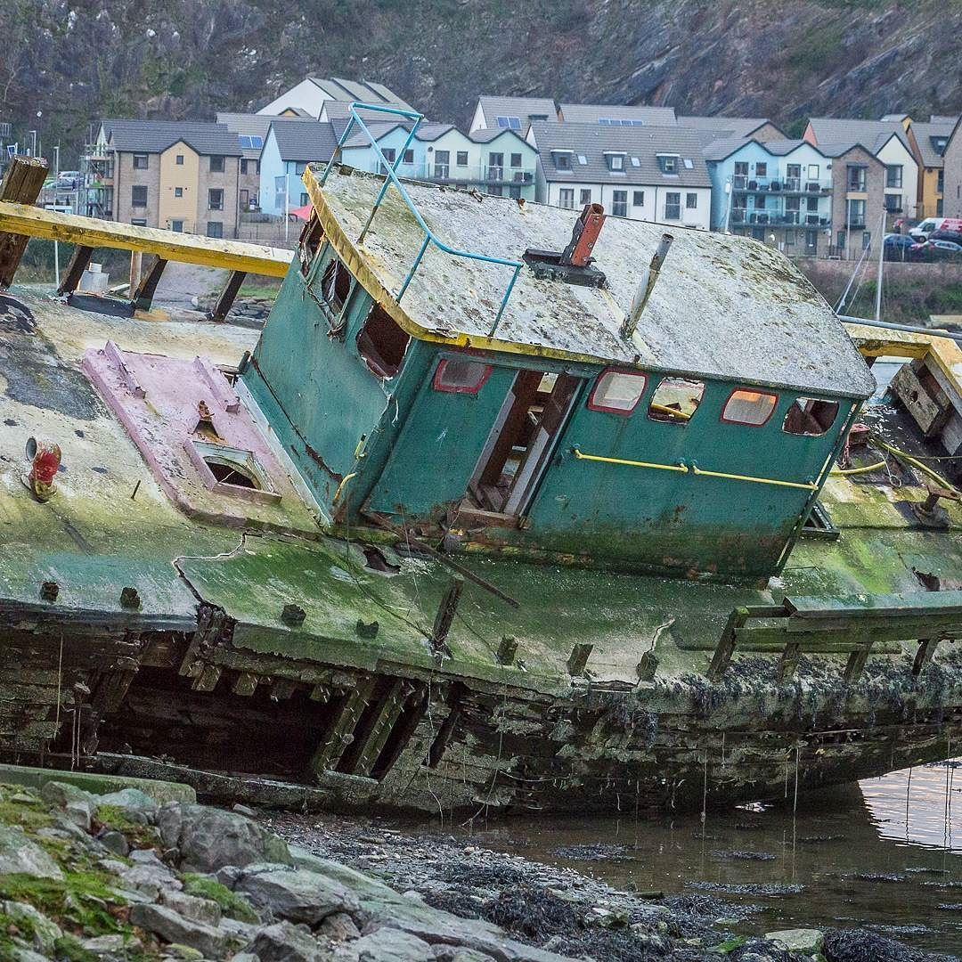 The wreck of fishing boat dignity hooe lake plymouth devon find this pin and more on the perimeter uk coast walk ccuart Image collections