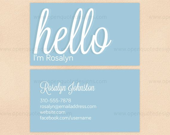 Business Card Professional Calling Card Mommy Card Digital Printable