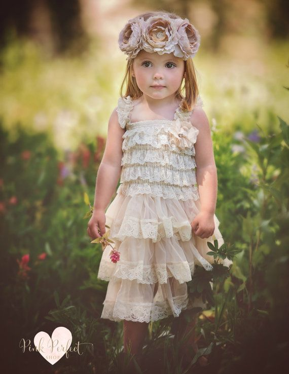 98ffa517b890 Lace flower girl dress