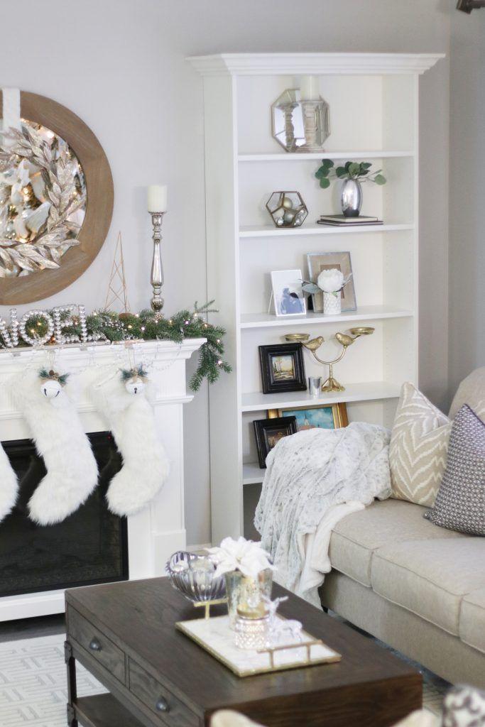 Winter Wonderland White Christmas Decor Living Room Tree Mantel Neutral Home Bo