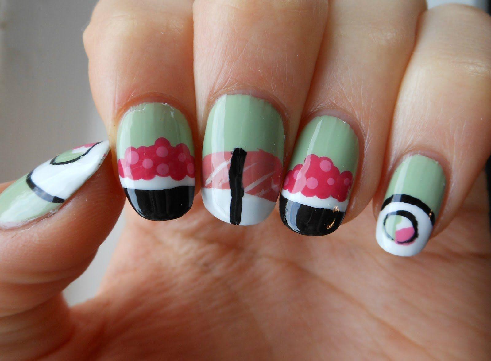 Japan, Sushi Nail Art   Art Nail   Pinterest   Art nails