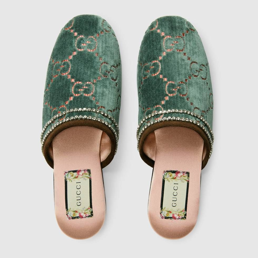 Velvet slippers, Gucci mules