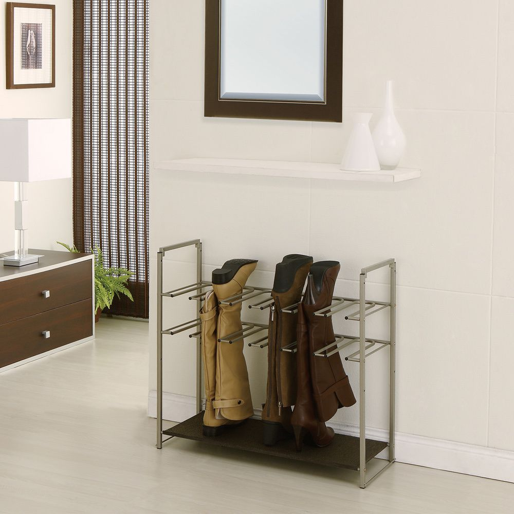 Exceptionnel Champagne Finish Stackable Boot Rack. Storage ...