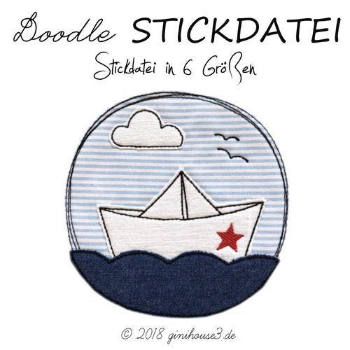 Stickdatei-DOODLE * PapierSCHiff ✪ ab 10x10