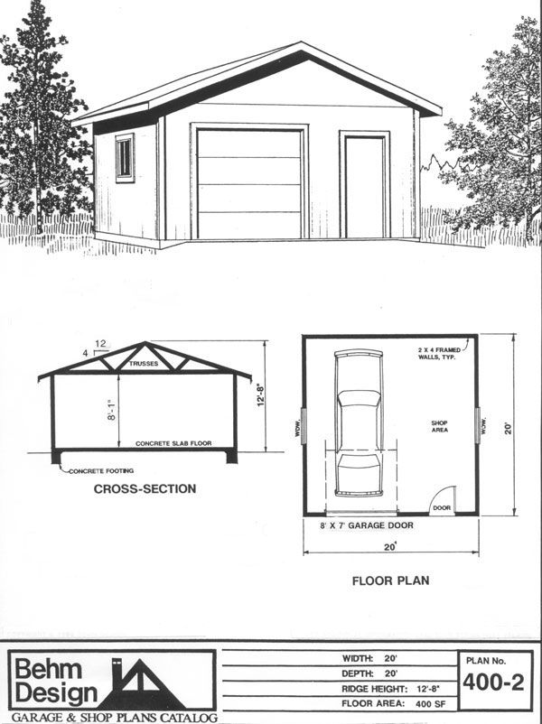 Garage Plan 400 2 Garage Design Garage Plans Garage Shop Plans