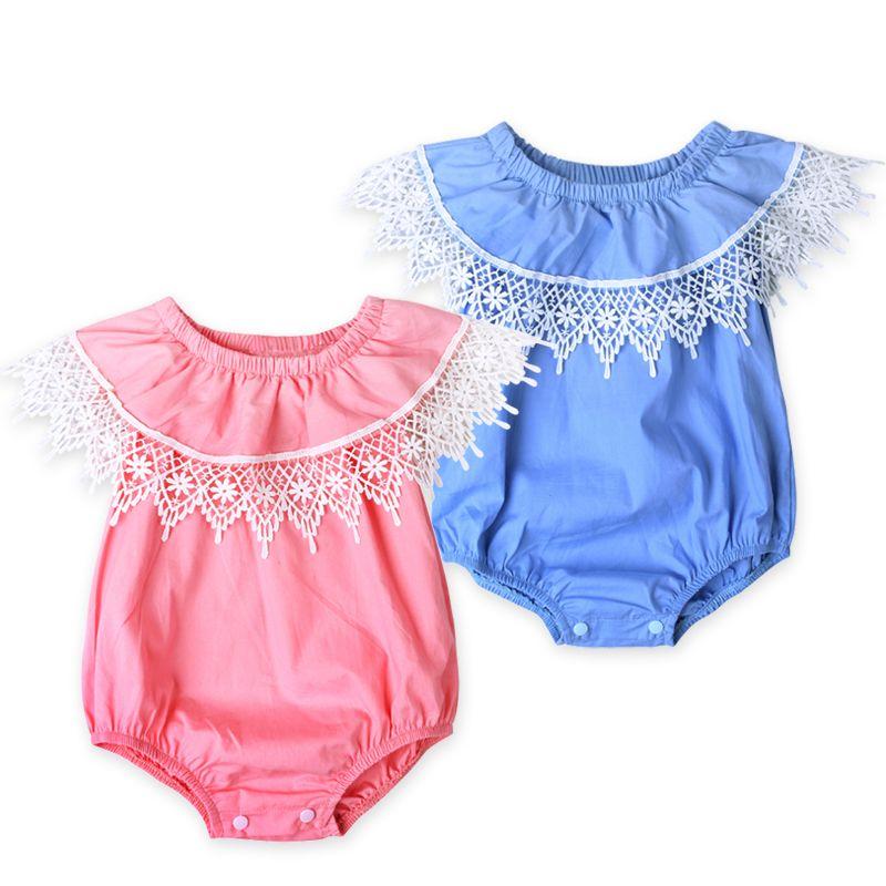 4c7a7a3ea Barato Roupa bonito Do Bebê Qualidade Superior Macacão de Renda Do Bebê  Recém nascido Da Criança